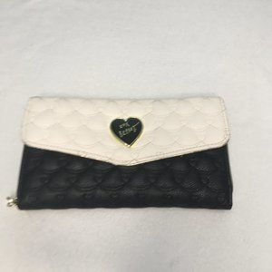 Betsey Johnson Quilted Black/White Wallet